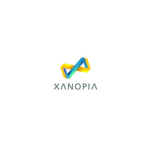 Impossible infinite shape. xanopia logo.