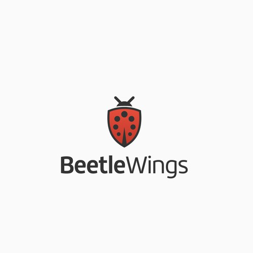 Simple character yet meaningful logo for BeetleWings