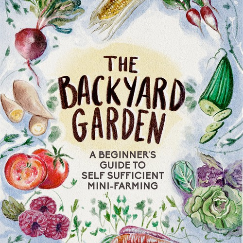 Hand-drawn book cover for a book about gardening