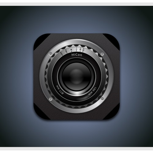 iPhone Icon for Photography App (Black and White)
