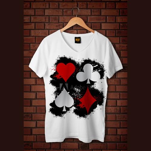 Poker Player T-shirt design