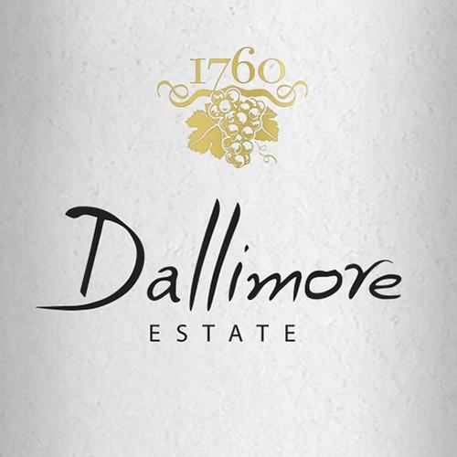"""""""Dallimore estate"""" logo for a wine producer in Australia."""