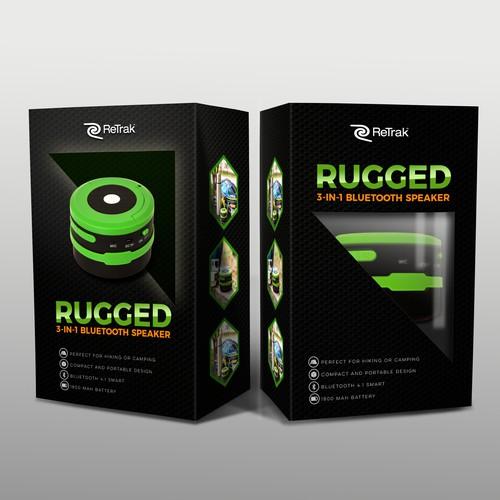 RUGGED speaker packaging design