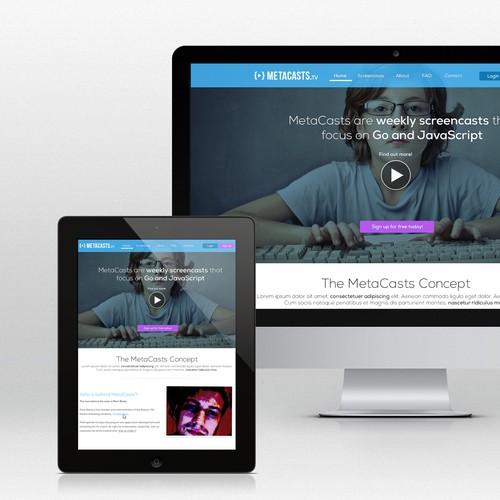 Redesign the popular weekly screencast series, MetaCasts.tv