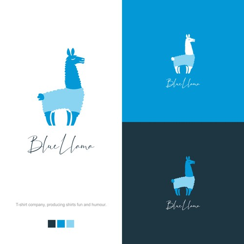 Blue Llama seeking simple effective logo