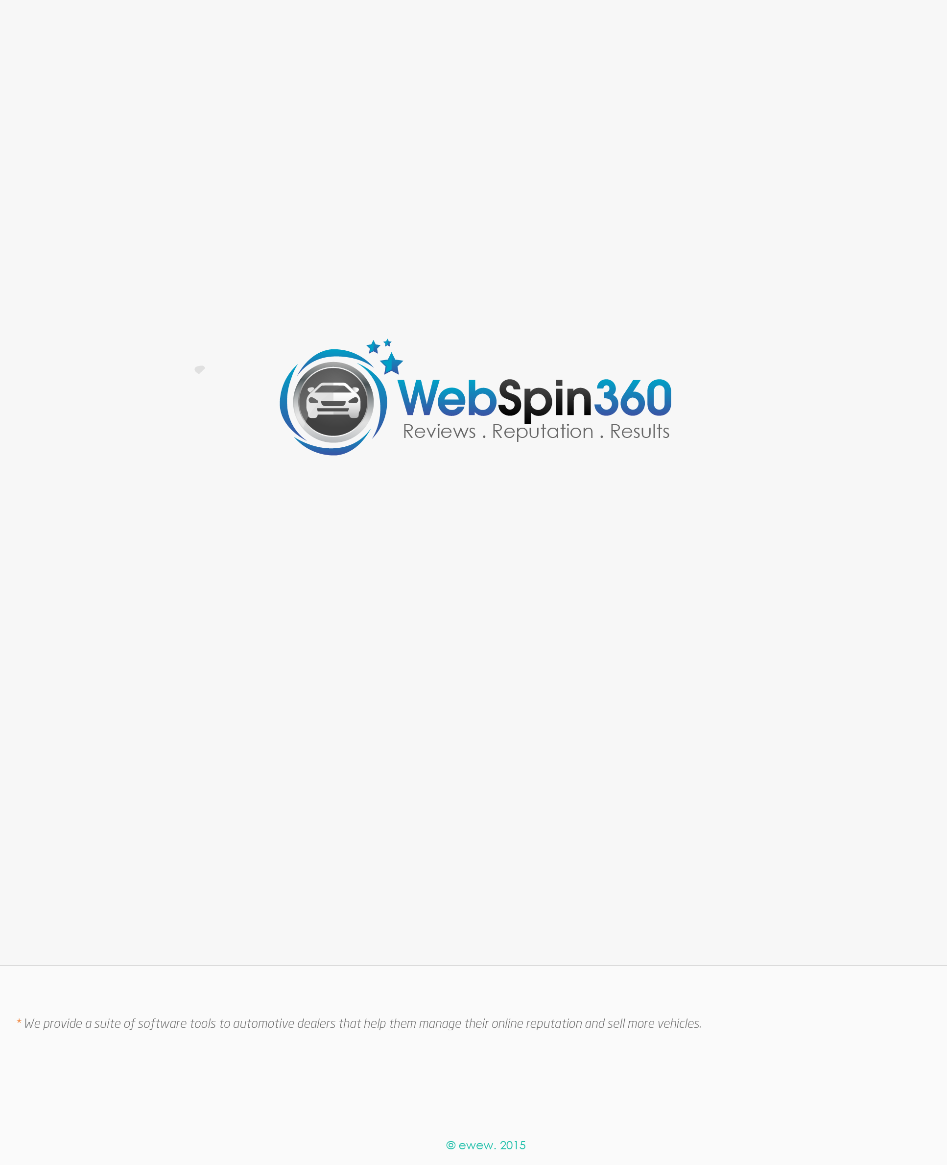 Create a killer logo for WebSpin 360 - Without using a globe :-)