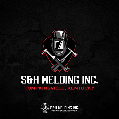 Emblem Type Logo for a Welding Company