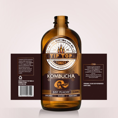 Label design for Kombucha drink