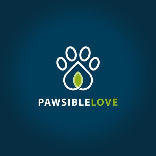 Pawsible Love logo entry