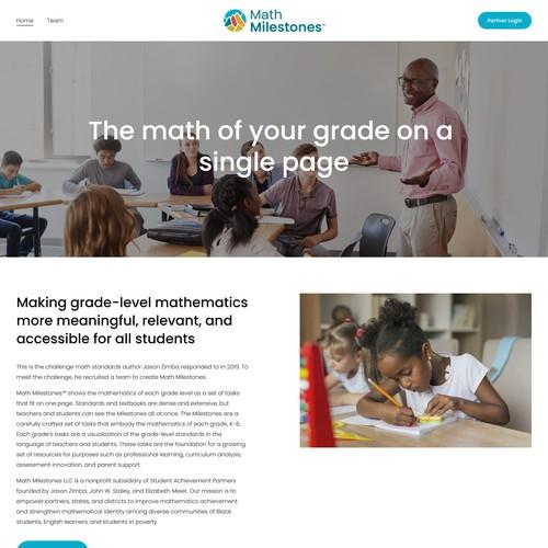 Math Milestones - Brand and Website Design