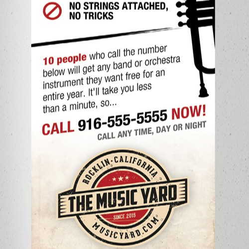Design Music-Themed 1/2 Page Vertical Ad For Local Magazine