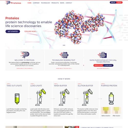 clean modern pharmacy website