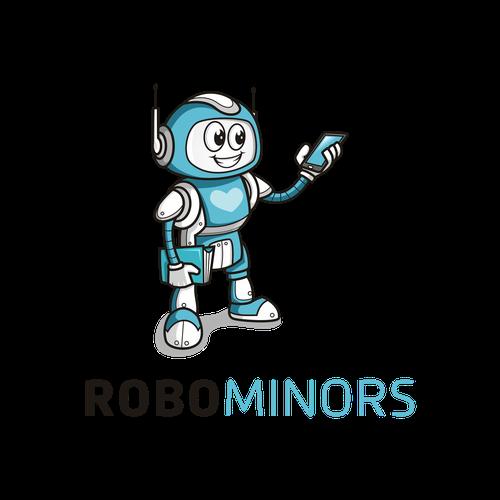 A robotics education company for kids needs a super cute logo