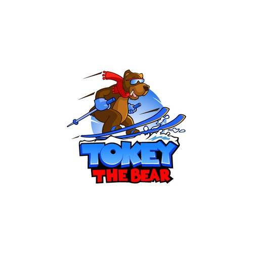 Tokey The Bear Cartoon Logo
