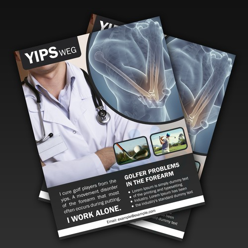 Dr. Yips Flyer Design