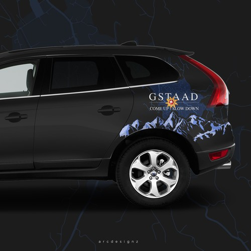 VOLVO XC 90 wrap for gstaad