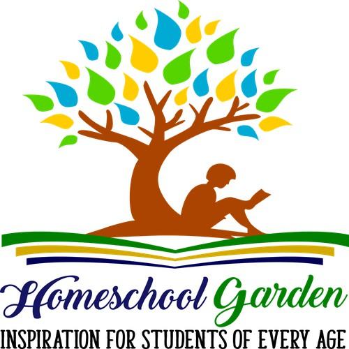 a logo for Homeschool Garden
