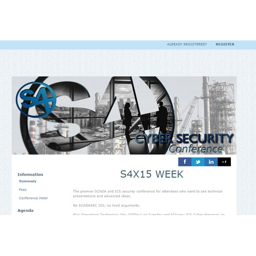 S4x15 Conference Banner (SCADA Cyber Security, Lot's of Press Will Be There)