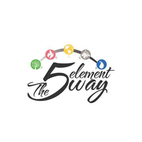 5 Elements Logo Concept for a book