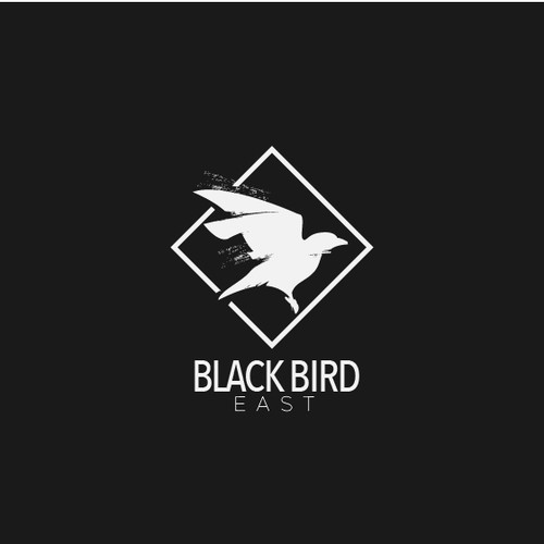 Rugged but simple logo for blackbird east