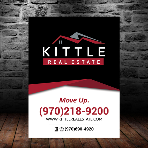 Minimal Modern and Eye Catching Concept for Real Estate Sign
