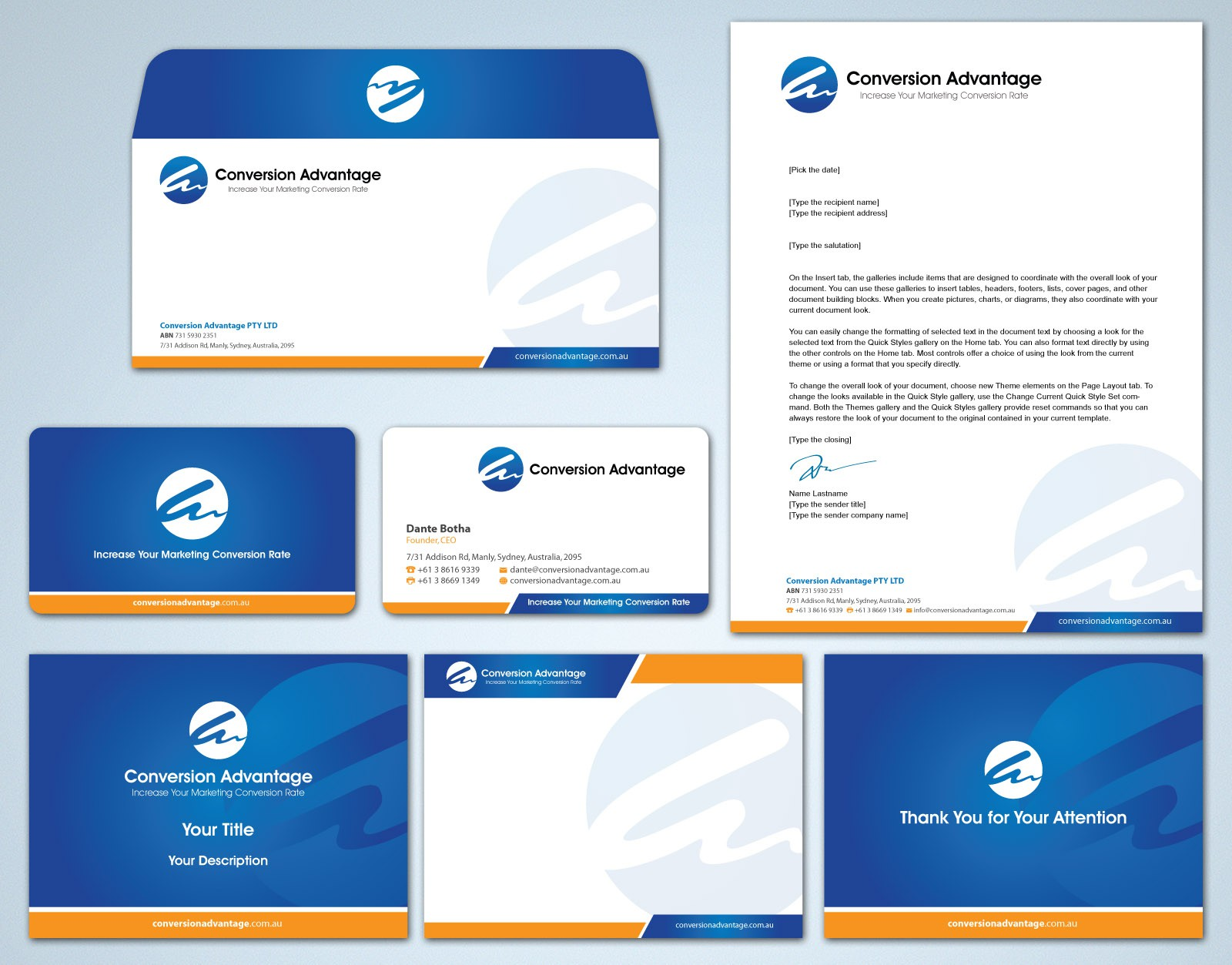 Create Cool Brand Stationery for this cutting edge Advertising Agency, Conversion Advantage