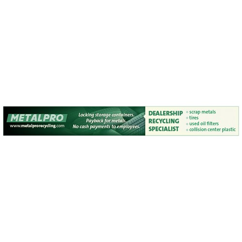 Help Metalpro with a new horizontal banner ad