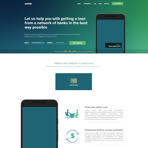 Landing page for Auditum