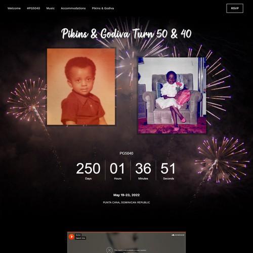 Birthday Invitation Website