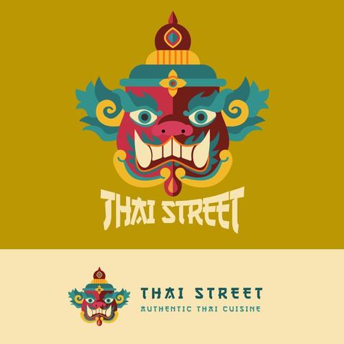 Vibrant Hip Thai Restaurant Logo