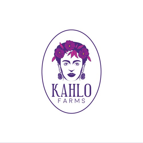 Modern Minimalist Logo for KAHLO Farms