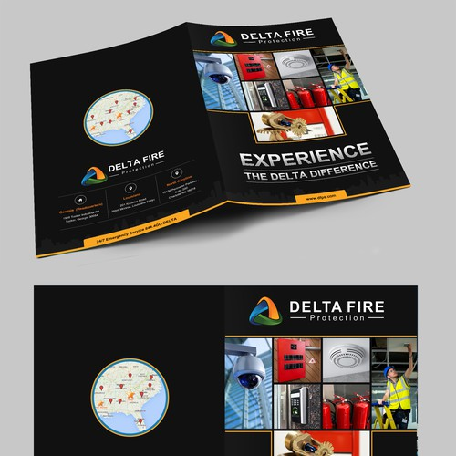 Fire it up! Create a brochure for our fire protection company.