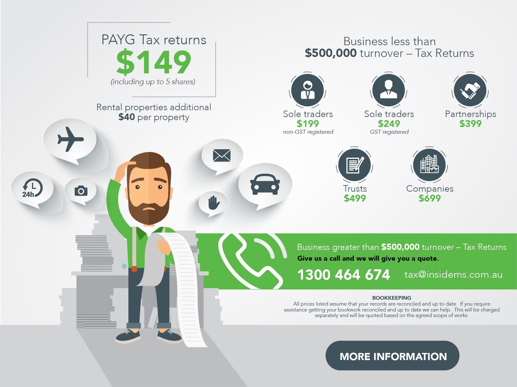 Tax brochure - however, facbook post instead.