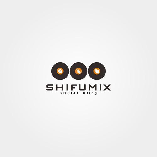flat logo design for social DJ application