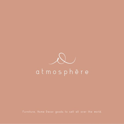 Create an elegant logo for atmosphère decor