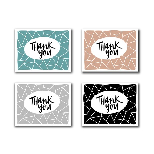 Geometric Thank You Card - contest submission