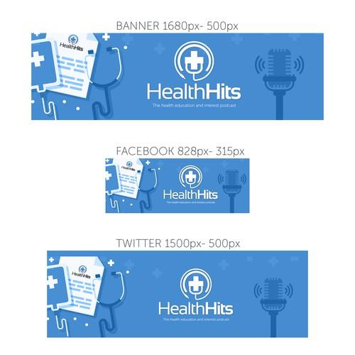 Banner, Facebook, Twitter