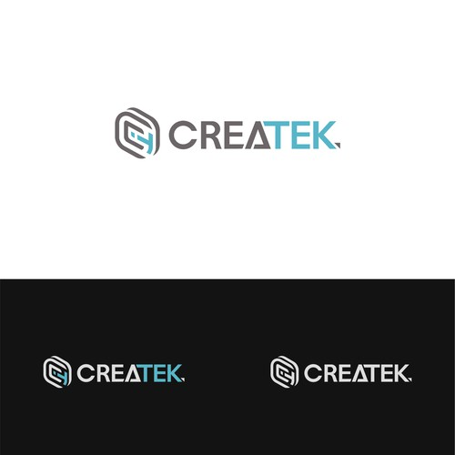 Modern logo for CreaTek
