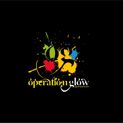 Create a logo capturing the extremity and wetness of Operation Glow