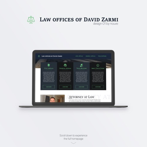Website concept for law firm