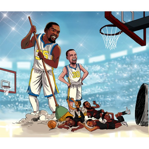 Kevin Durant Clean Sweep Champions