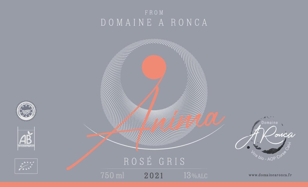 Création étiquette vin rosé