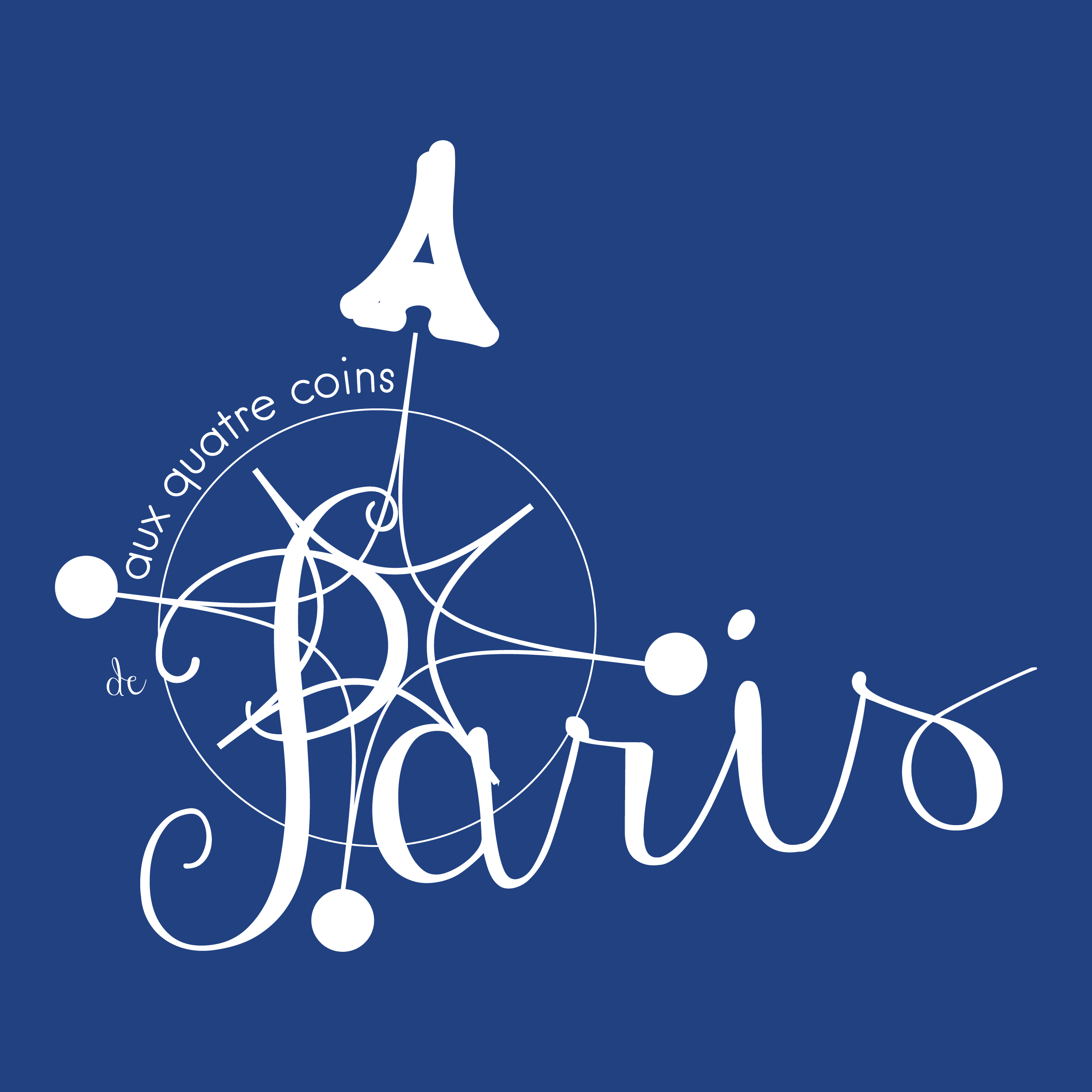 Design the logo for Aux quatre coins de Paris!