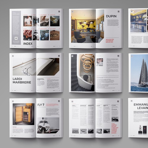 Magazine for several swiss companies