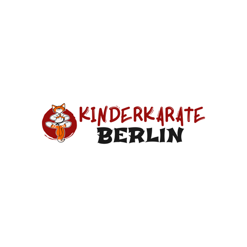 Playful logo for the karate school in Berlin