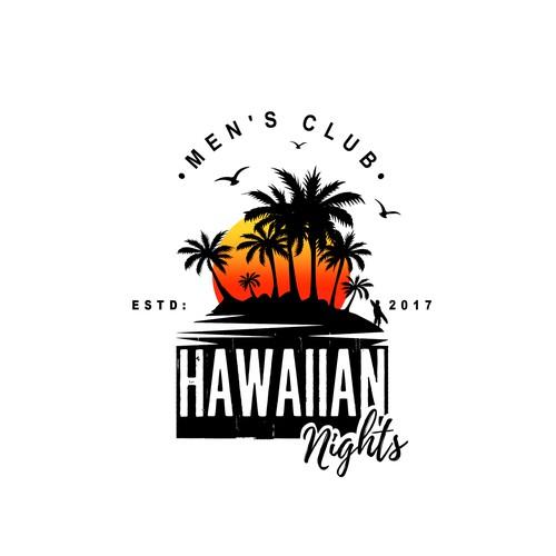 "Creative, powerful logo for the men's club - ""Hawaiian Nights"""