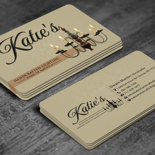 Katies Craftedlighting Luxury Business Card