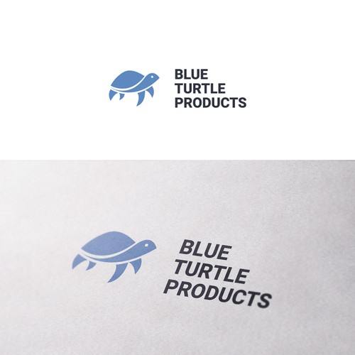 Blue Turtle Products logo design