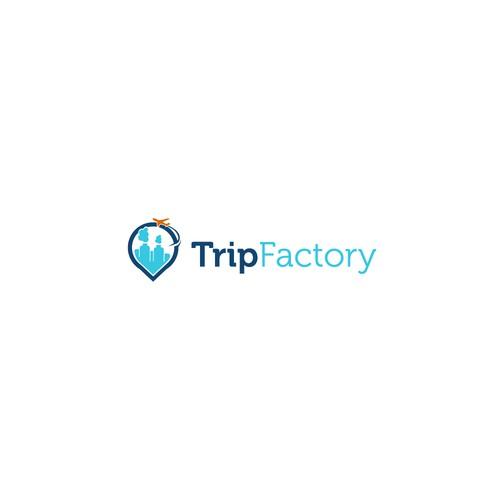 tripfactory logo for travel & hotel