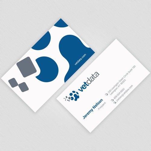 Business Card Design for Tech Brand